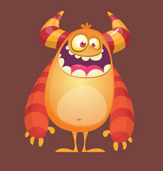 cartoon funny troll or gremlin vector image vector image