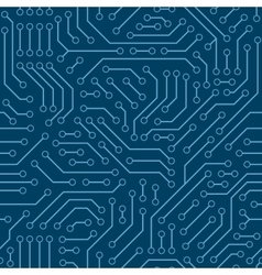 Computer circuit board seamless pattern vector