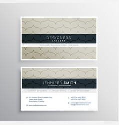 Corporate business card with clean pattern vector