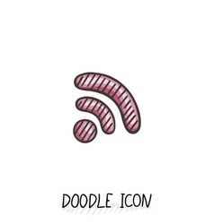 Doodle wifi icon internet and connection vector image