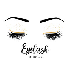 Eyelash extensions logo vector