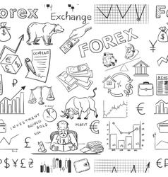 finance forex hand drawing pattern vector image vector image