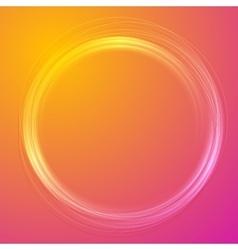 Futuristic colorful orange purple circle design vector