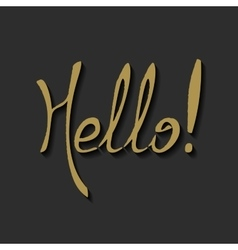 Hello Hand draw Lettering vector image vector image