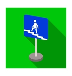 Information road signs icon in flat style isolated vector image vector image