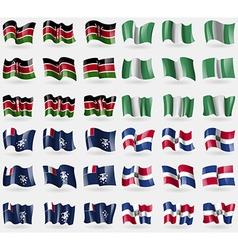 Kenya nigeria french and antarctic dominican vector