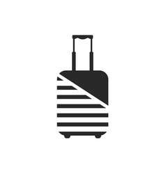 logo of luggage wrapped by protective coating vector image vector image