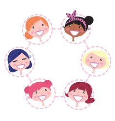 Multicultural network group vector