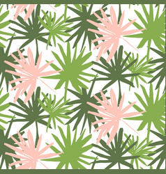 palm tropic seamless pattern vector image vector image