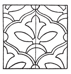 Persian enamel pattern is a glass fusing decal vector