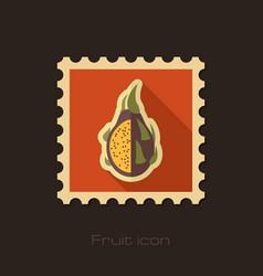 pitaya flat stamp tropical dragon fruit vector image vector image