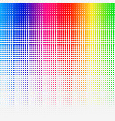 rainbow colored halftone abstract template vector image vector image