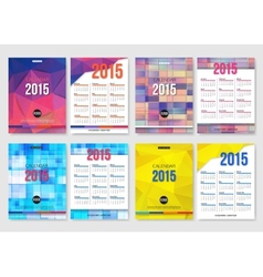 Set of calendar template brochure geometric design vector image vector image