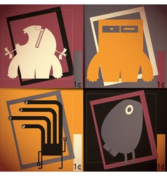 Set of four colorful monsters vector image vector image