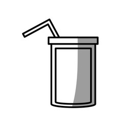 Soda straw beverage picnic shadow vector