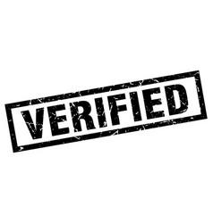 Square grunge black verified stamp vector