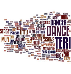 The muffed dance text background word cloud vector