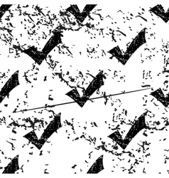 Tick mark pattern grunge monochrome vector image