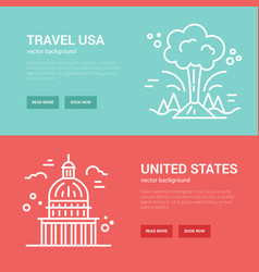 Usa banner templates vector