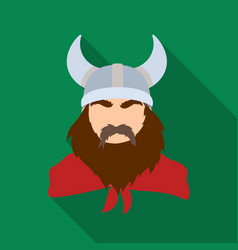 viking icon in flate style isolated on white vector image vector image