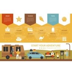 Start Your Adventure infographic flat vector image