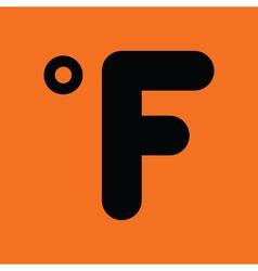 Fahrenheit degree icon vector