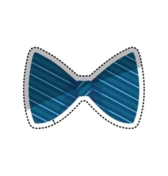 Isolated bow tie vector