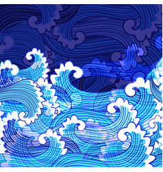 Seamless bright marine pattern vector