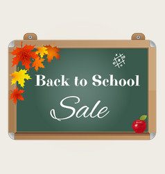 Back to school sale background with blackboard vector