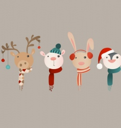 Winter animals vector