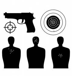Shooting gallery vector