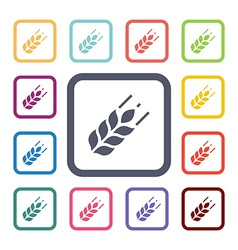 Agriculture flat icons set vector
