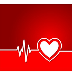 Heart cardiogram with heart shape concept vector