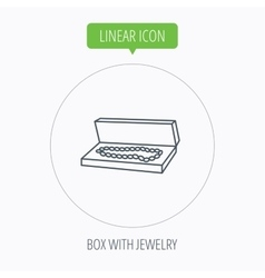 Jewelry box icon luxury precious sign vector
