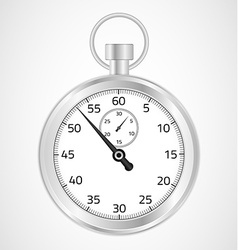 Chrome stopwatch vector