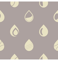 Seamless background with water drops vector
