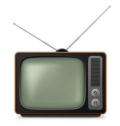 realistic vintage tv vector image