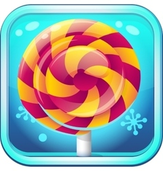 Icon candy caramel for computer game vector