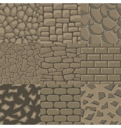 Cartoon stone wall seamless texture vector