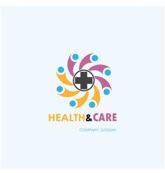 Healthy lifestyle logo template vector