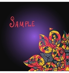 Abstract ornamental shape mandala on vector image