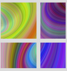 Abstract psychedelic brochure background set vector