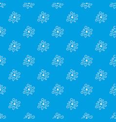 Amoeba pattern seamless blue vector