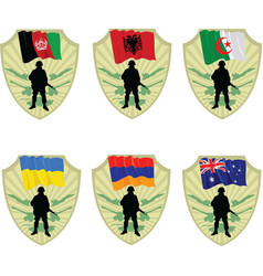 army in the world vector image vector image