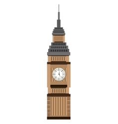 big ben building graphic vector image