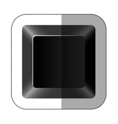 Black button of computer keyboard vector
