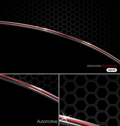 Black n chrome automotive background vector