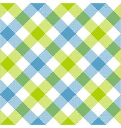 Blue green diagonal checkered plaid seamless vector
