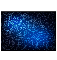 Blue vintage wallpaper with spiral pattern vector