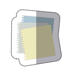 color notebooks school icon vector image